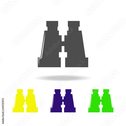 weapon, binoculars colored icons  Element of military