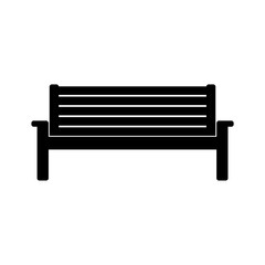 Wooden Park Bench icon or logo