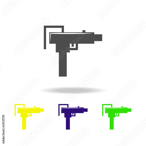 weapon, shotgun colored icons  Element of military illustration