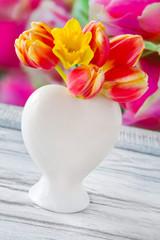 Tulips springtime decoration