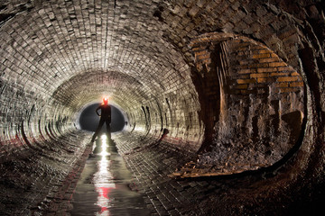 Underground canalization in Poland