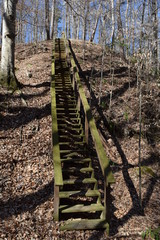 Staircase on the Lost Bluff Trail at Grenada Lake in Mississippi
