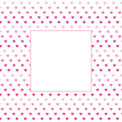 Hearts background - love pattern vector- st. valentine hearts wallpaper - Blank space for text