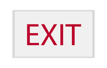 Corporate Office Exit Sign Closeup Wall mural
