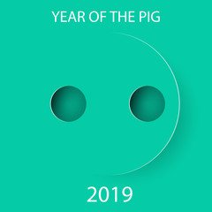pig nose for 2019 Chinese New Year.