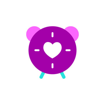 Valentines day, oclock icon. Element of Web Valentine day icon for mobile concept and web apps. Detailed Valentines day, oclock icon can be used for web and mobile