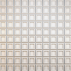 Abstract corrugated surface of white material. 3D illustration.