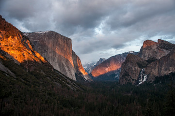 Poster Centraal-Amerika Landen Sonnenuntergang Yosemite (Tunnel View)