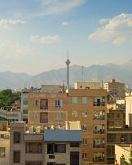 Fototapete - Tehran skyline with Milad tower