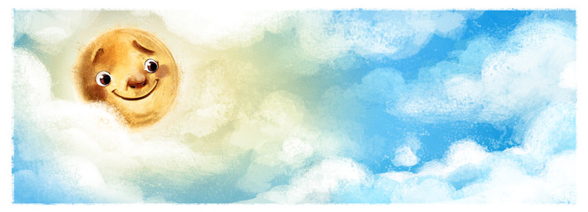 sol en el cielo con nubes