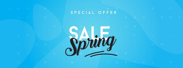 Spring sale background with beautiful colorful flower. Vector illustration template.banners