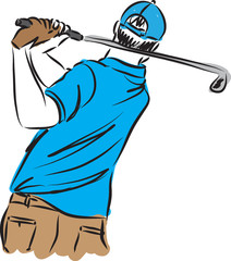 golf PLAYER MAN ILLUSTRATION