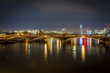 Chelsea bridge in the night, London