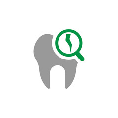 Broken and decay icon. Element of Dental Care icon for mobile concept and web apps. Detailed Broken and decay icon can be used for web and mobile