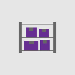 Boxes, shelves icon. Element of Delivery and Logistics icon for mobile concept and web apps. Detailed Boxes, shelves icon can be used for web and mobile