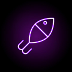 Fishing float outline icon. Elements of Sport in neon style icons. Simple icon for websites, web design, mobile app, info graphics