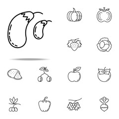 eggplant dusk style icon. Vegetables icons universal set for web and mobile