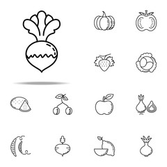 radish dusk style icon. Vegetables icons universal set for web and mobile