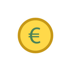 Banking, euro, coin icon. Element of Web Money and Banking icon for mobile concept and web apps. Detailed Banking, euro, coin icon can be used for web and mobile