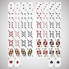 Playing Cards isolated with white background