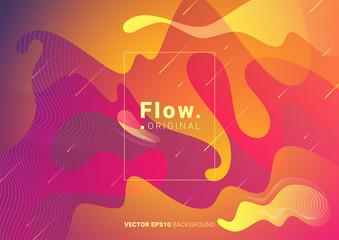Liquid colorful modern background. Acid fluid gradient shapes. Contemporary futuristic design of poster. Vector illustration.