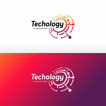 Technology logo designs concept vector, Digital Wire logo template