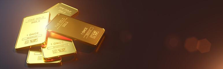 Gold bar close up shot. wealth business success concept.. Fototapete