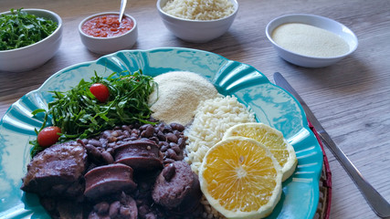 Feijoada, traditional Brazilian food