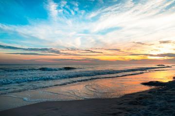 Keuken foto achterwand Blauw Sunset Over the Gulf Coast