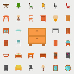 curbstone flat icon. Furniture icons universal set for web and mobile