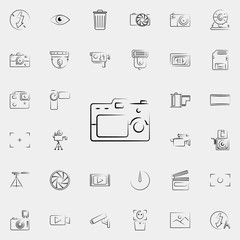 camera outine icon. Photo and camera icons universal set for web and mobile