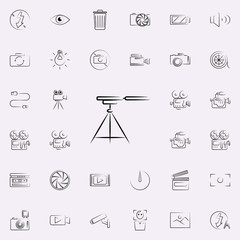 tripod for camera outine icon. Photo and camera icons universal set for web and mobile