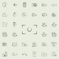 photo fraime outine icon. Photo and camera icons universal set for web and mobile