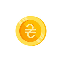 Hryvna, coin, money color icon. Element of color finance signs. Premium quality graphic design icon. Signs and symbols collection icon for websites, web design