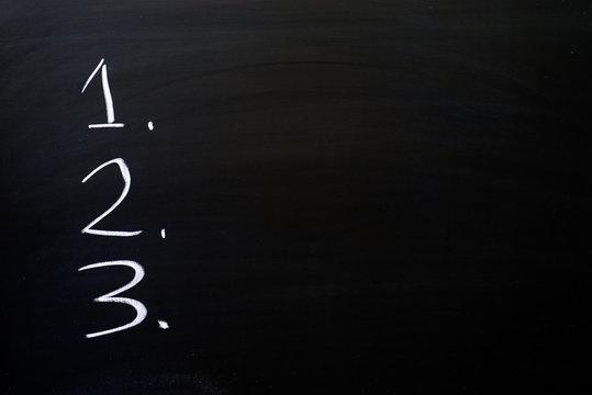 1 2 3 On Blackboard