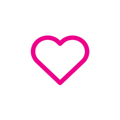Heart icon Vector illustration, EPS10.