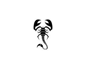 Scorpion symbol illustration