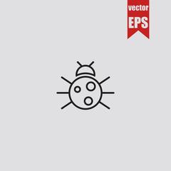 Ladybug icon.Vector illustration.