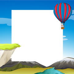 Template of hot air balloon travel