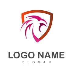 eagle head with shield, logo template, eagle symbol,shield icon