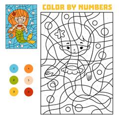 Color by number, Mermaid