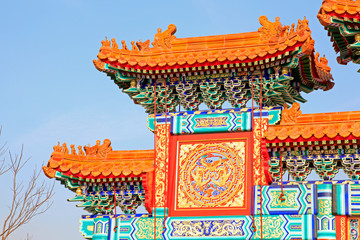 Chinese style painted building