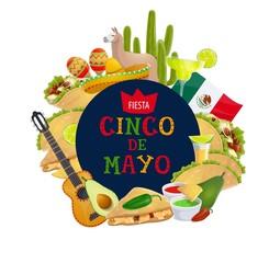 Cinco de Mayo Mexican traditional holiday fiesta