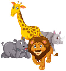 Group of animal character