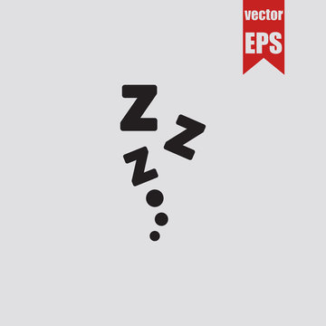 zzz sleep icon.Vector illustration.