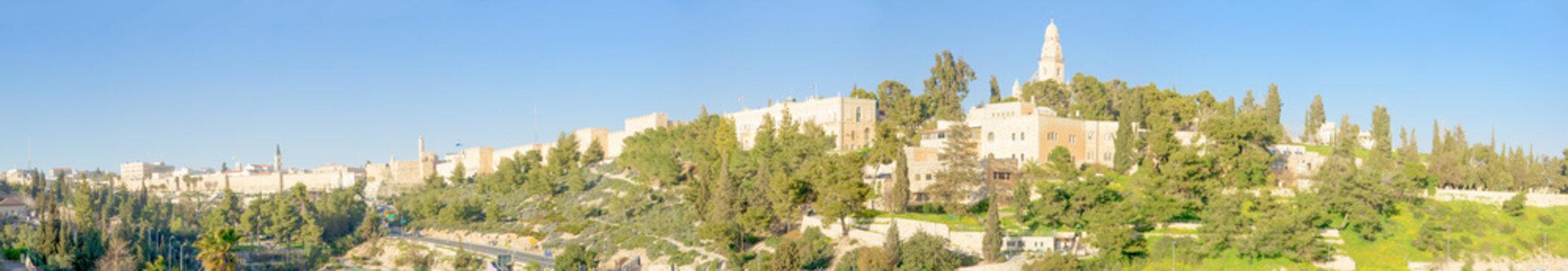 Jerusalem old city and Mount Zion