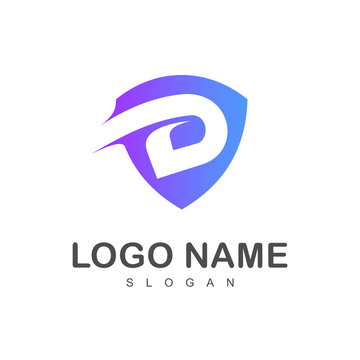 shield letter d logo