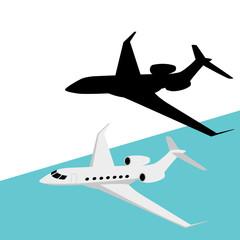 jetliner ,vector illustration ,   flat style, profile view