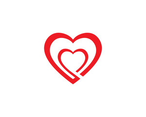 Heart Logo design vector template. Happy Valentines Day concept. Infinity   Love Logotype icon
