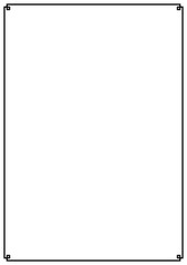 Vector paper design vintage style page border